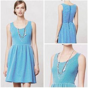 Anthropologie Maeve Caldera Polka Dot Dress Size S